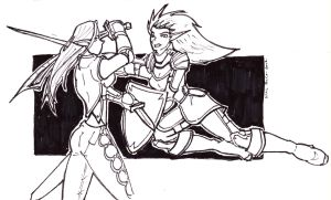Drow Fight practice by NickT