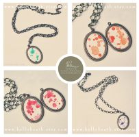 Pollock Pendants 1 by HeatherHitchman