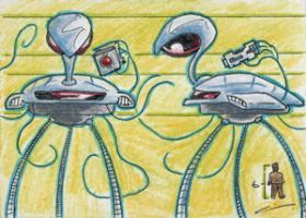 War of the Worlds Sketch Card (5) by GeekyWhiteGuy