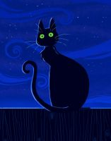 Cat Night by yllya