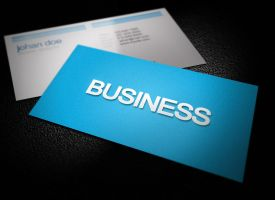 Soft Blue Business Card by graphcoder