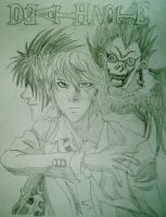 Death Note Drawing by bdayband