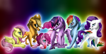 MLP The Mane 6 Wolf Version by LupiArts