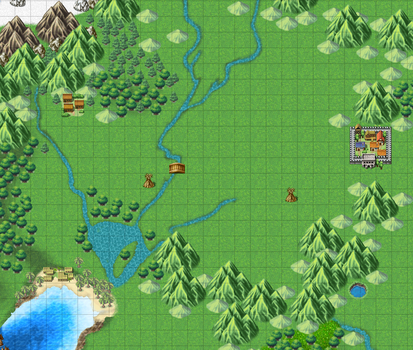 World map - RPG Maker - Work in Progress by sarahyt