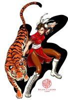 Chun Li Tiger New Year by SylviaDraws