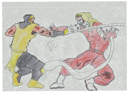 Scorpion vs omega Red Colored by HardcoreEj