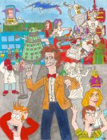 Doctor Who/ Futurama Eleventh Doctor (With Color) by iamtherealbender