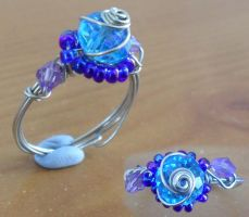 crystal twirl ring by Darla-Illara