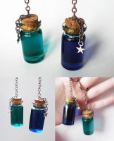 Stamina and Mana Potions - bigger bottle keychains by FrozenNote
