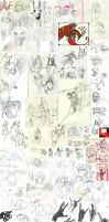 Sketchdump - 2009. by WhiteRaven90