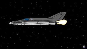 Space fighter in the space by COLT731