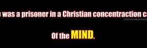 Prison of the Mind Atheist Bumper Sticker #15 by zomberinacontagion
