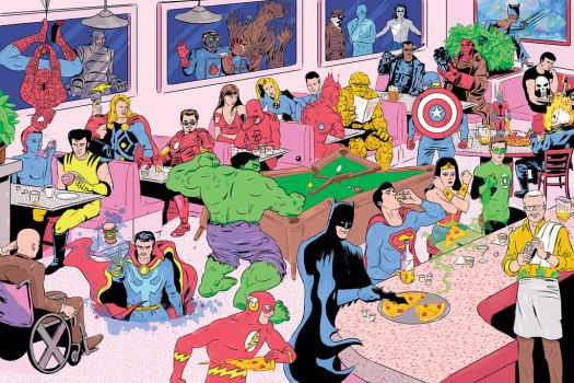 Superheroes for The Year Ahead 2014 issue by Businessweek