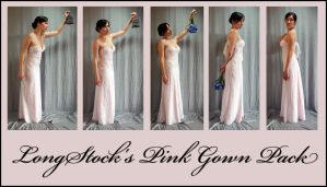 Pink Gown Pack by LongStock