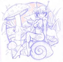Anthro Snail by zenia