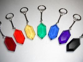 Rupee Keychain, all colors by ChinookCrafts