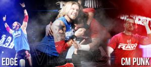 Edge and CM Punk by Andrea6661