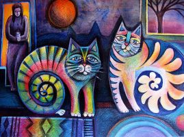 Cats in the house by karincharlotte