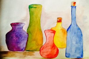 Colourful jugs and glasses by Randomer768