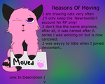 Moved Accounts Info. And Reasons by Newhowlgirl