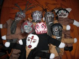 "12"" Mushroomhead Plushies by thedollmaker"
