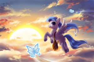 Fly through the clouds by fantazyme
