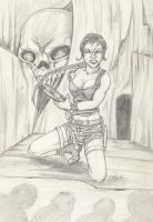 Lara Croft in Skull Cavern by Ronron84