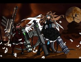 Angels with Ammo by bezzalair