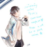 Swimming anime congratulatory pict by kumage-mon