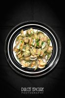 Champagne Poached Ghost Clams by DulcetEpicure