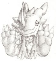 3rd place: Exveemon by shadowkyle89
