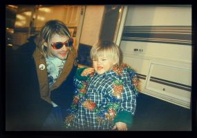 Kurt and Frances Cobain by youngdoriangray