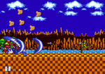 Samus Aran in Sonic 1 and 2 - Green Hill Zone Boss by EXEcutor-The-Bat