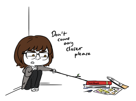 *pokes textbooks with a stick* by ManaManami