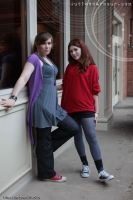 Donna Noble and Amy Pond by ljvaughn