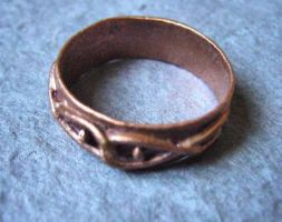 Knot - Copper clay Ring by Carmabal