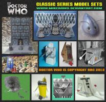 Doctor Who - Classic Series Model Sets by mikedaws