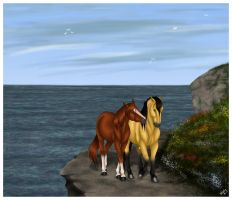 Along the Clifftop by harlequin-wondercat