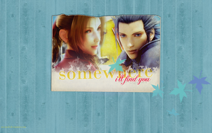 Aerith and Zack: Wallpaper by areopoli