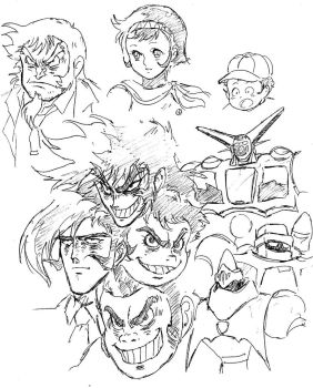 GETTER ROBO sketches by Hellstinger64
