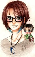 Charley and her chibi Levi by Gresta-GraceM