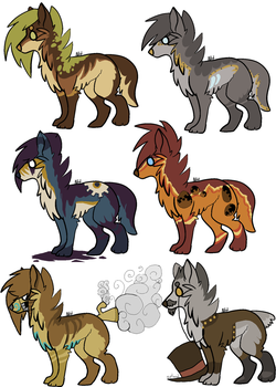 scene dog adopts - steampunk - closed by hyenidae