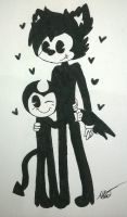 .Bendy x Boris-Drawing. by vocaloid121