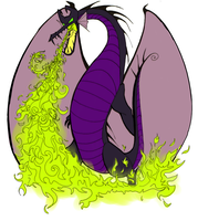 Burtonized Maleficent Dragon by SilverTallest