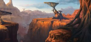 Alien canyon by ARTek92