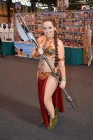 Slave Leia at Birmingham Comic-Con 2014 (2) by masimage