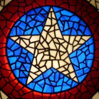 Star of Captain America in Stained Glass by mclanesmemories
