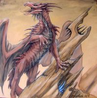 Watercolor Dragon 1 by zarathus