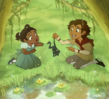 Princess and the Frog Fanart by Isaia
