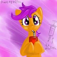 scoot drinking juice by aweopalta